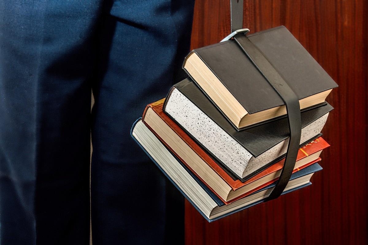 Låner på biblioteket