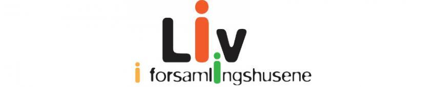Logo liv i forsamlingshusene Grafik af Michael Reinhards